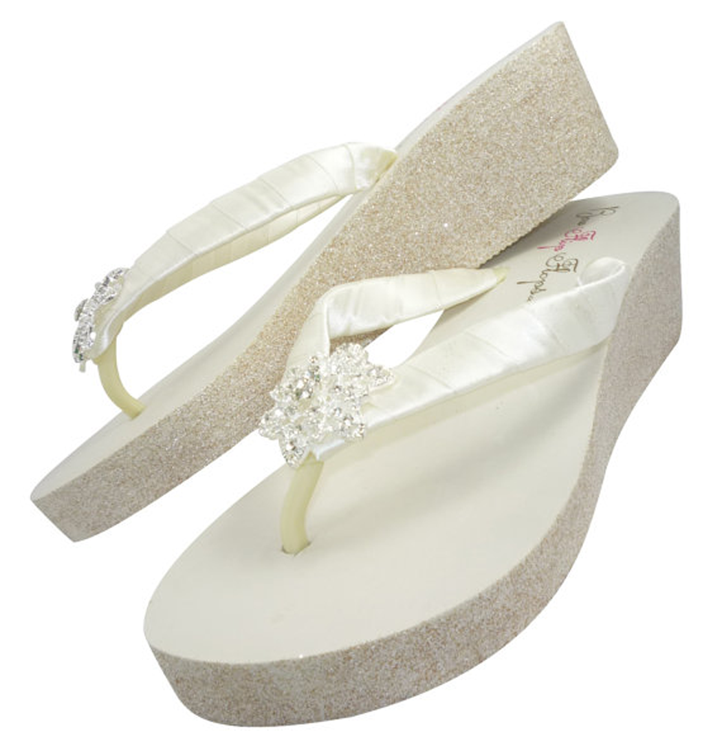 3e9ba5022d4b Love Bling and Sparkle  Below you will find a selection of fabulous glitter wedge  flip flops. Every item has options for shoe color