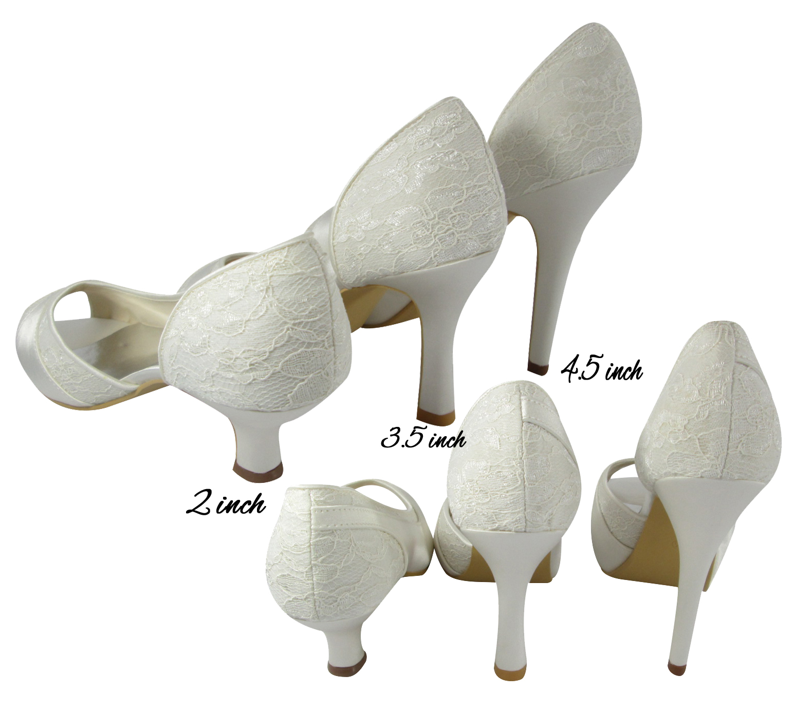de02778e639f Wedding Date and Mrs Name Heels in White or Ivory