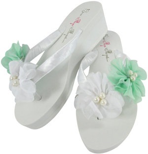 Flower Wedding Flip Flops