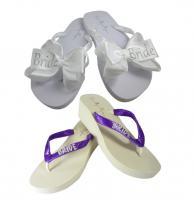 b7fd5b180 ... Glitter BRIDE Strap   Bow Flip Flops ...