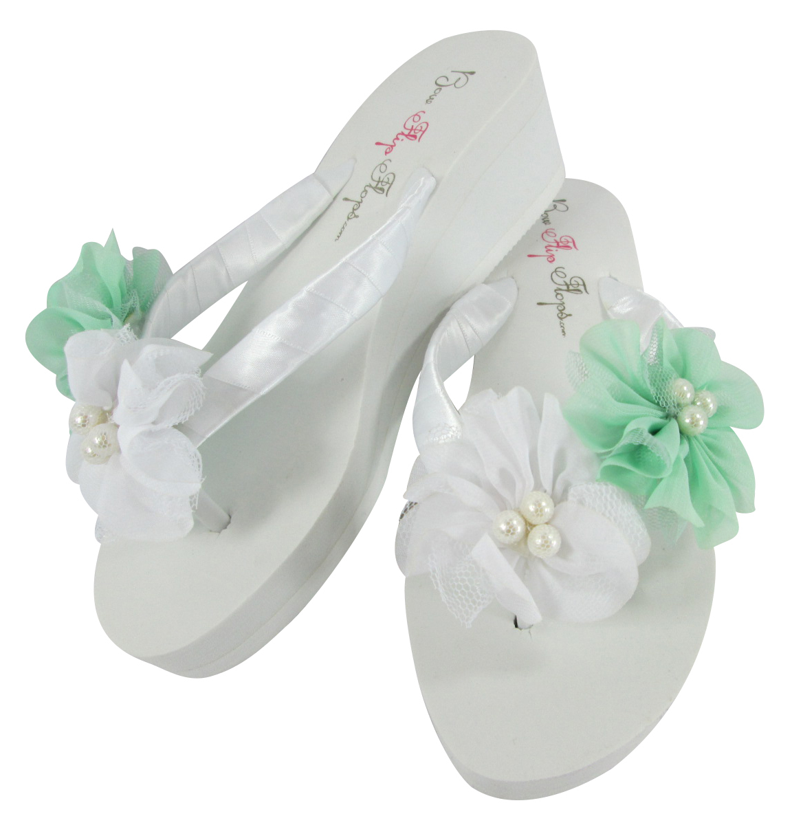 Flower Wedding Flip Flops For The Bride Bridesmaids