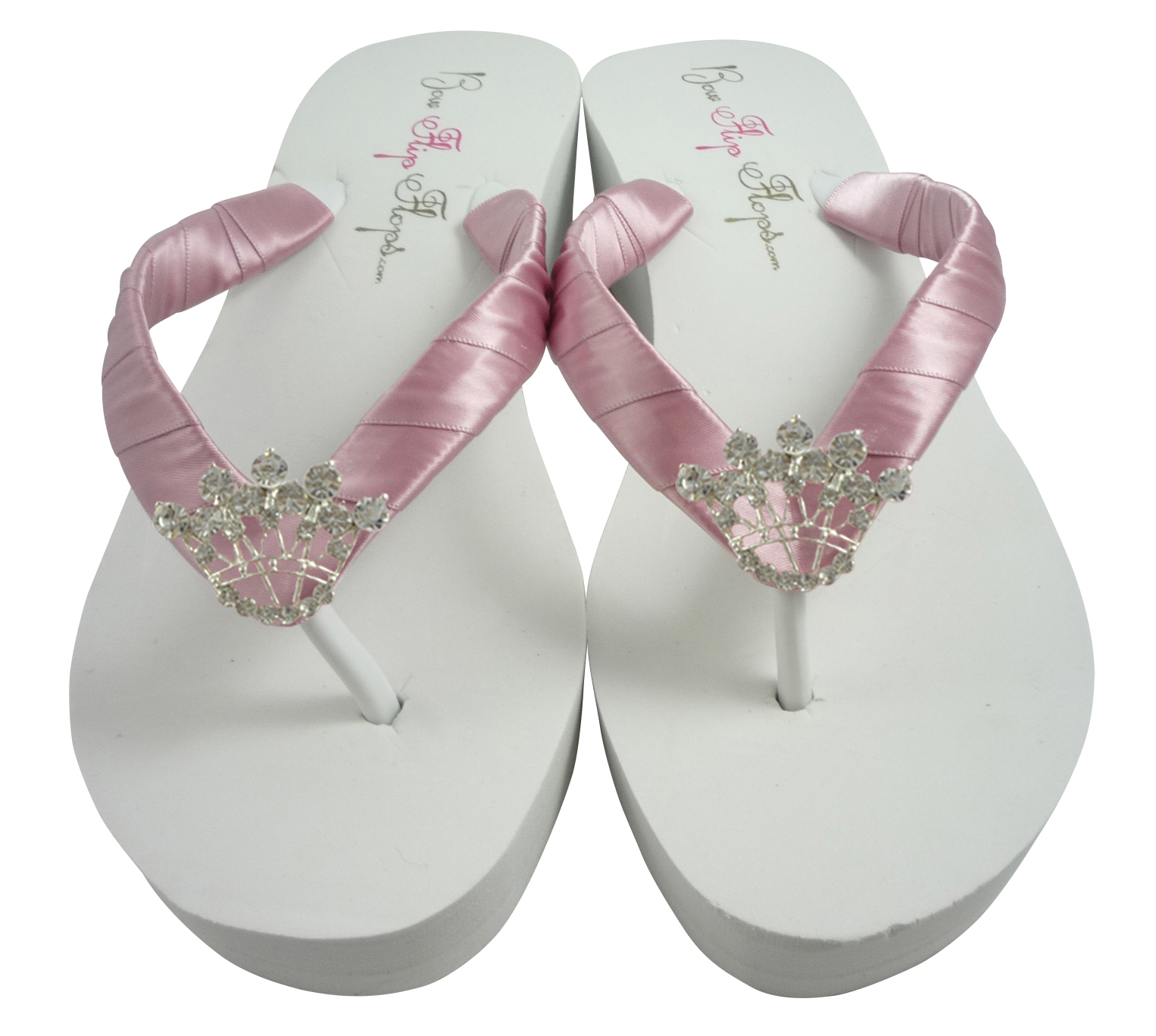 51010e7eb Design your own colors - Wedding Flip Flops with Crown Embellishment