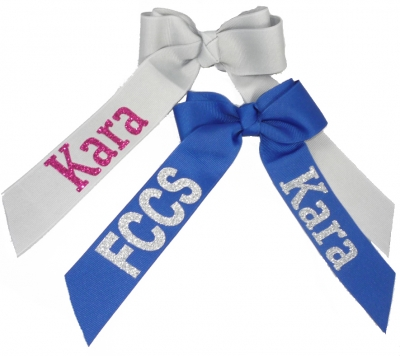 Personalized Glitter Hair Bow - Design your Colors
