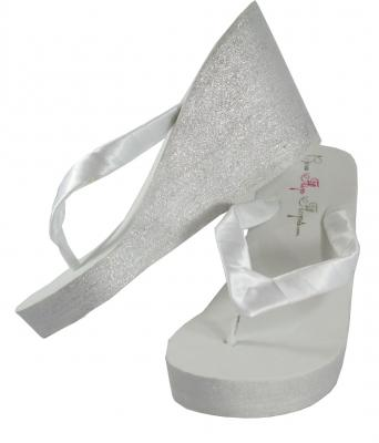 Choose your own colors Glitter Wedding Wedges - customizable color options