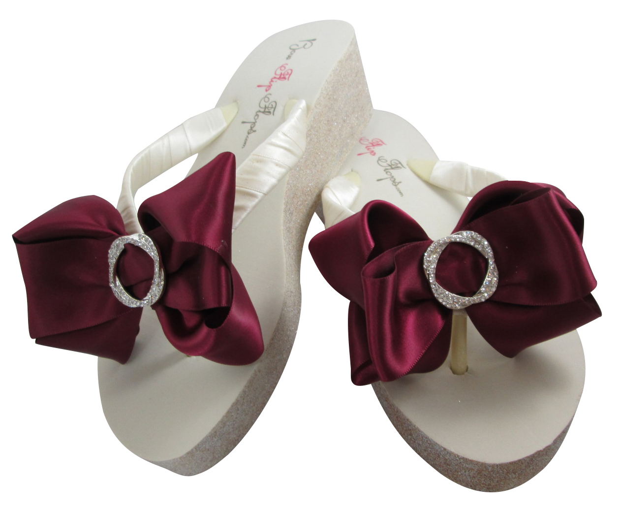 820d9071b Design your own Glitter Bow Wedges with Rhinestone Embellishment