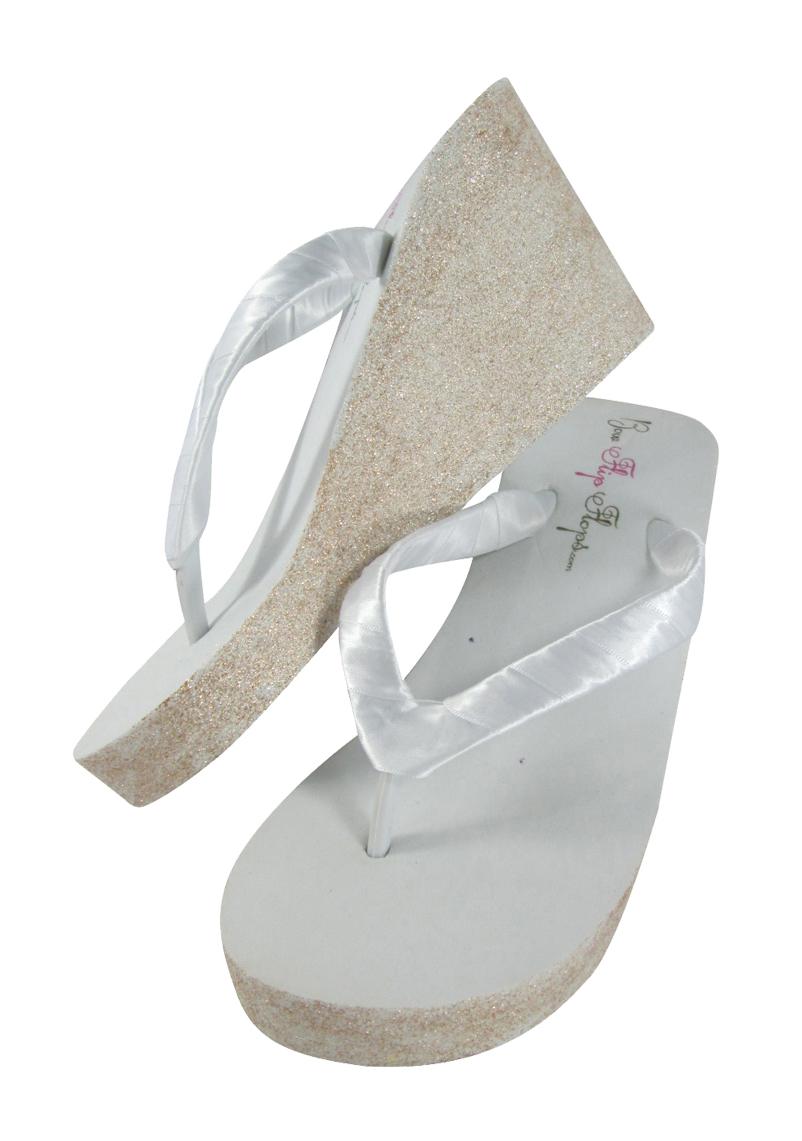 glitter bridal flip flops for the wedding from. Black Bedroom Furniture Sets. Home Design Ideas