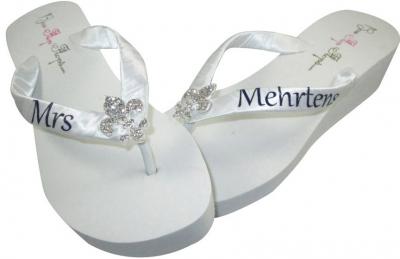 589c65735 Bridal Flip Flops Ivory Flip Flops wedding flip flops wedge flip flops