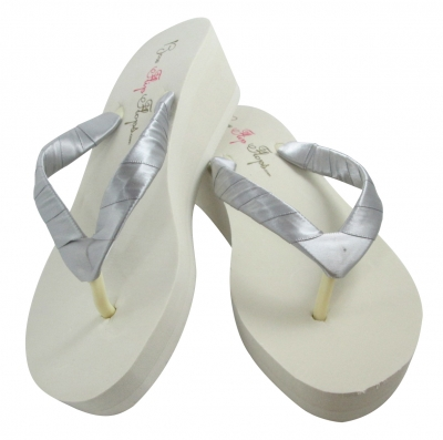 Wedges with Gray or any color Satin - Choose heel height! BRPL46