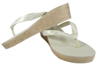 93590258945 Glitter Bridal Flip Flops for the Wedding from bowflipflops.com