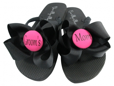 Hot Pink Groom's Mom Flip Flops, Choose your Colors MOBG42