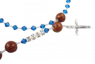 Basketball Name Rosary- Capri Blue or choose colors Rsy57