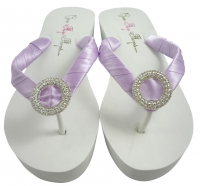 5fca4798b Bridal Flip Flops with Luxe Embellishment- Orchid Purple  choose colors
