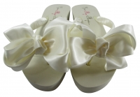 Ivory Sandals for the Bride and Bridesmaid Flip Flops