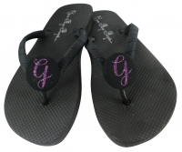 Purple Glitter Bridesmaid Flip Flops - Many Colors BMIT22