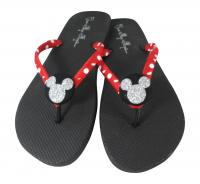 Mickey Glitter Flip Flops for Ladies & Girls