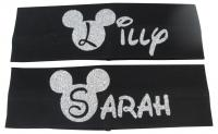 Disney Girl & Ladies Stretch Glitter Headband Disney-Head1