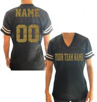 Jersey with Glitter Team Name, Player & Number