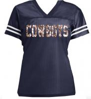 Team Name Glitter Jersey for Women