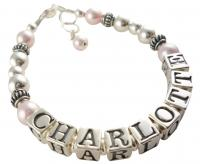 Design your Custom Pearl Child Name Bracelet