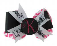 Cheer Glitter Hair Bow - Design Your own