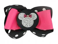 Black & Pink Minnie Mouse Hair Bow