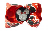 Red Minnie Mouse Glitter Bow