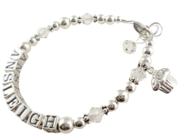 Cupcake or Any Charm Girl's Name bracelet - choose colors