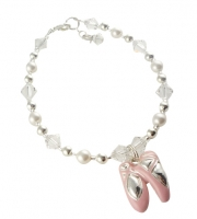 Crystal & Pearl Dance Recital Bracelet for Girls