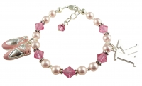 Rose Crystal Dance Bracelet- choose colors