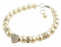 Cream pearl Flower Girl Bracelet