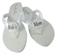 White & any color Bride's Mom Flip Flops, Choose your Colors MOBG12
