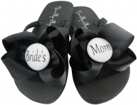 Design your own colors Bride's Mom Flip Flops with Bows -groom/ bridesmaid/flower girl MOBG23