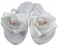 Bride's Mom/Groom's Mom Flip Flops with White bows or any colors MOBG34