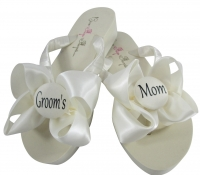 Ivory or any color Groom's Mom Flip Flops, Choose your Colors MOBG41