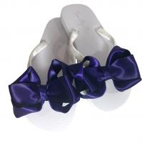 Purple Satin Bow Flip Flops
