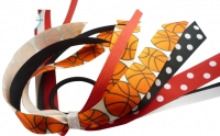 Basketball Hair Bow Ponytail Streamer Ribbon for Girls
