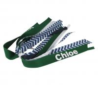 Chevron, Forest and Navy Pony Streamer with Name