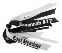 Black & White Name & School and Number Bow