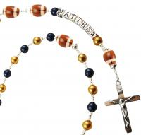 sports Rosary Personalized -  Football
