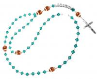 Football Team Color Rosary, Personalized  Rsy52