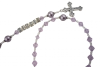 Lavender Purple Swarovski Rosary- or choose color(s) & personalization Rsy73