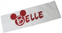 Red White Disney Bling Headband, Personalized/ Many Colors