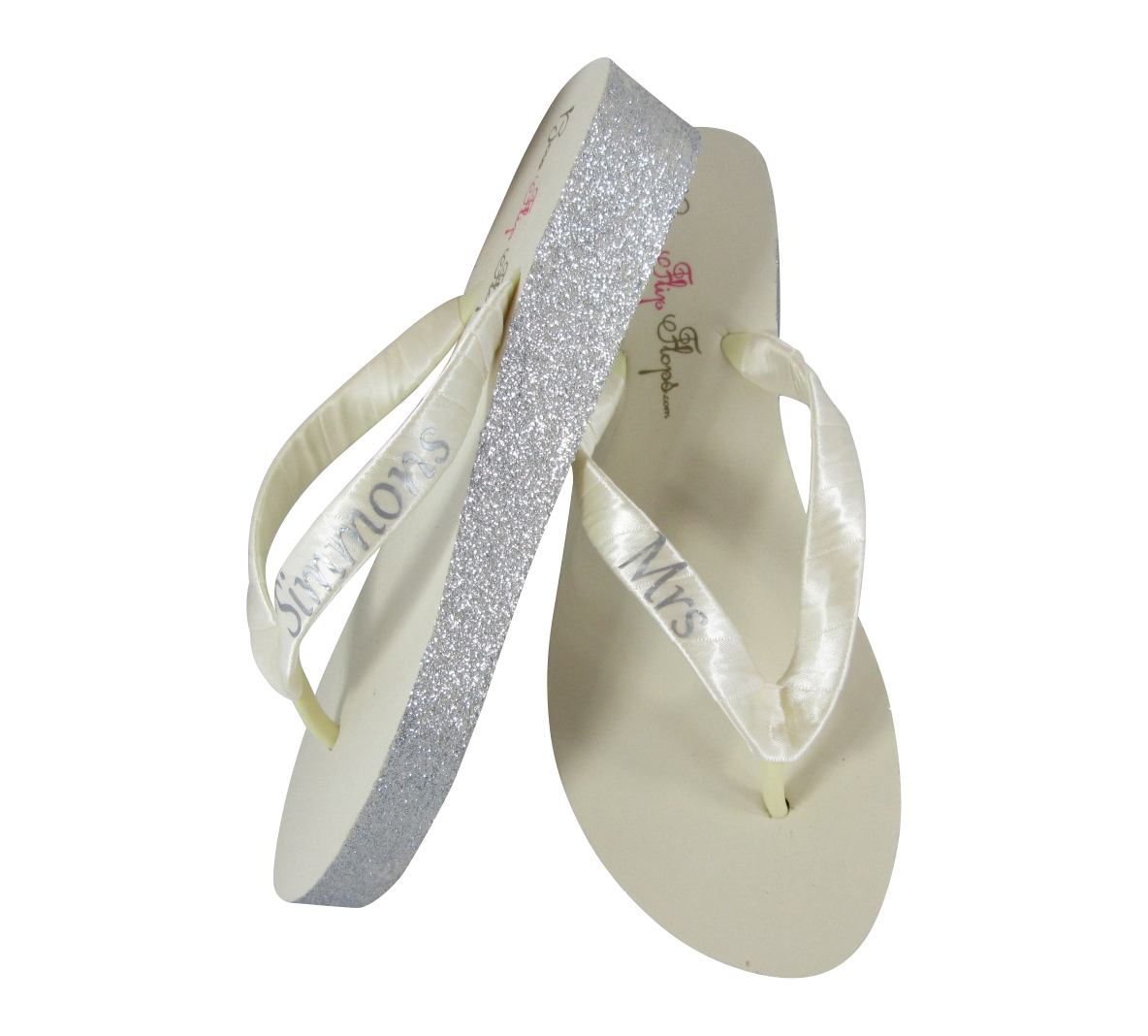 fc7fcbc1bd Love Bling and Sparkle? Below you will find a selection of fabulous glitter wedge  flip flops. Every item has options for shoe color, heel height, ...
