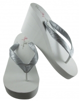 Wedges with Silver or any color Satin