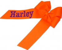 Glitter Name Hair Bow with one side personalized