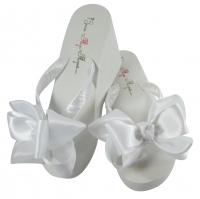 Wedding Flip Flops with Classic Double Bows